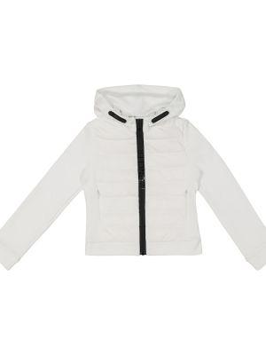 Biały ciepły kardigan bawełniany Moncler Enfant