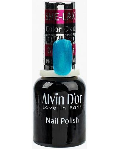 Голубой лак для ногтей Alvin D'or