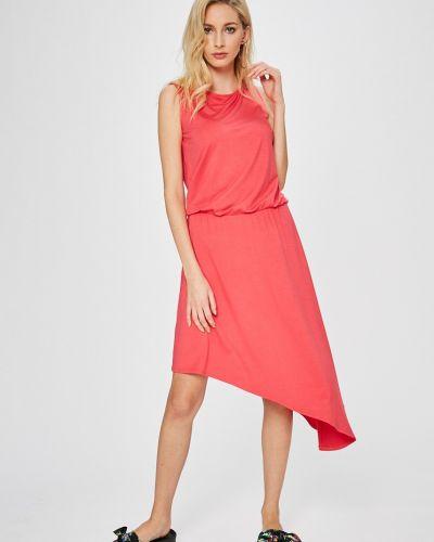 Платье мини в полоску с поясом прямое Answear