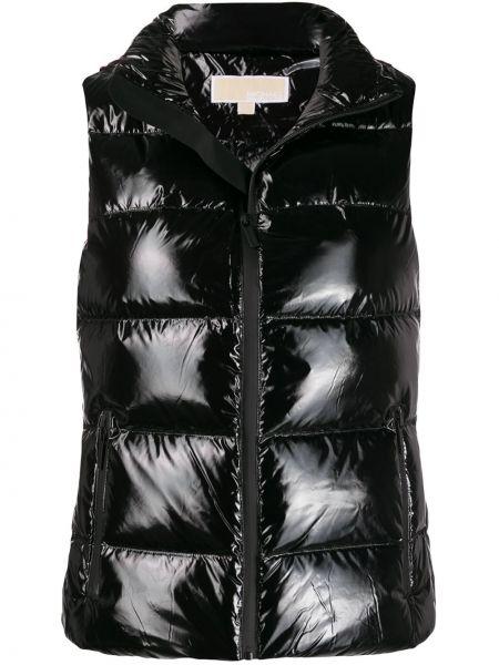 Стеганая жилетка с карманами с отложным воротником Michael Kors Collection