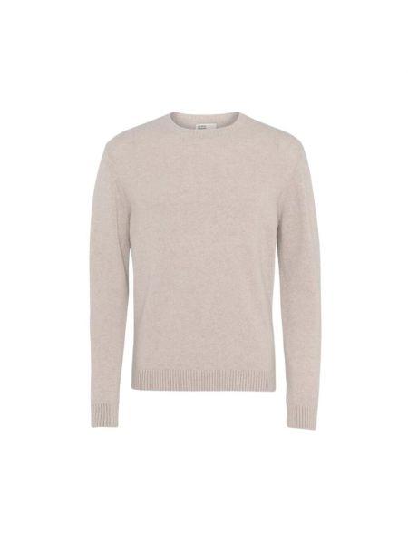 Biały klasyczny sweter Colorful Standard