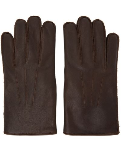 Czarne rękawiczki skorzane vintage Rrl