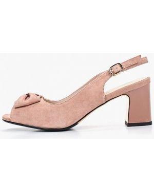Босоножки на каблуке розовый Berkonty