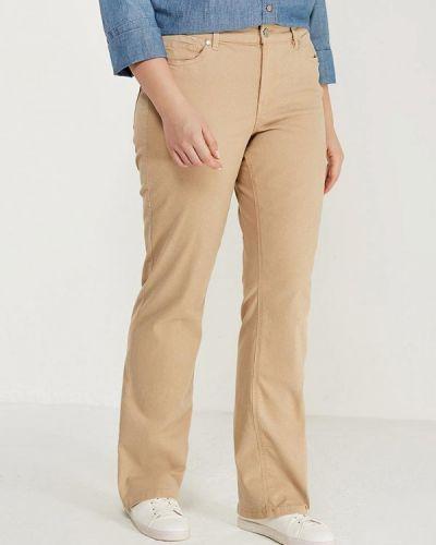 Бежевые брюки Violeta By Mango