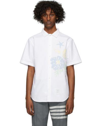Koszula krótkie z krótkim rękawem Oxford z logo Thom Browne