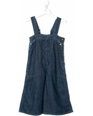 Хлопковый синий комбинезон с карманами свободного кроя Go To Hollywood
