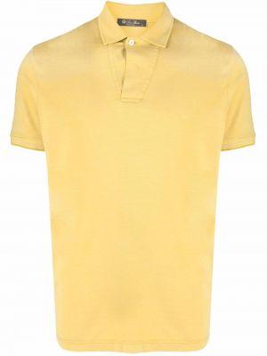 Żółta koszula z jedwabiu Loro Piana