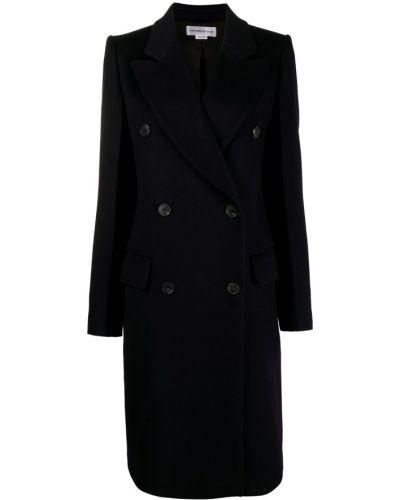 Кашемировое длинное пальто для полных двубортное Victoria Beckham