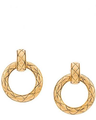 Серьги винтажные золотой Chanel Vintage