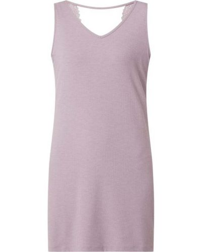 Koszula nocna koronkowa - fioletowa Esprit