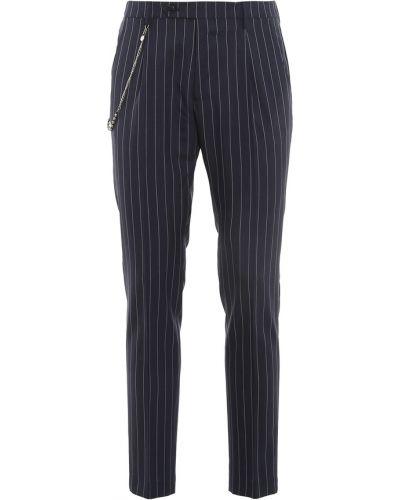 Niebieskie spodnie w paski Berwich