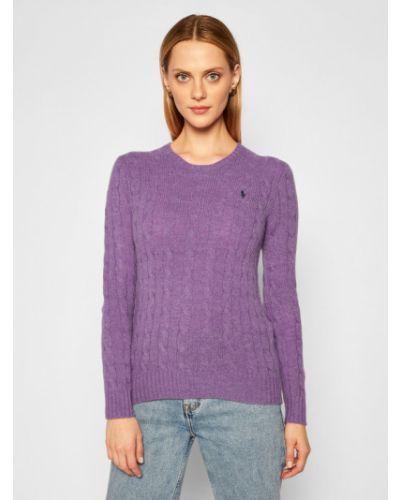 Prosto fioletowy kaszmir sweter Polo Ralph Lauren