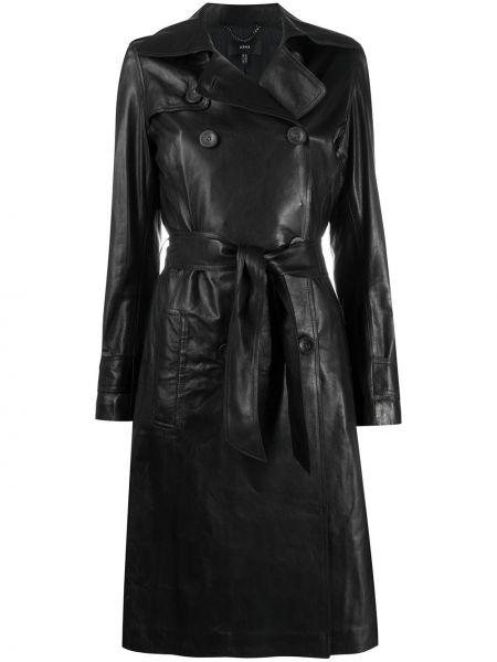 С рукавами черное пальто на пуговицах двубортное Arma