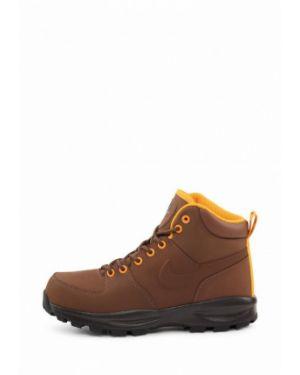 Кожаные ботинки осенние коричневый Nike