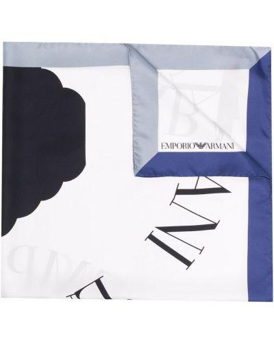 Biały szalik Emporio Armani