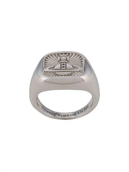 Pierścień srebro metal Vivienne Westwood