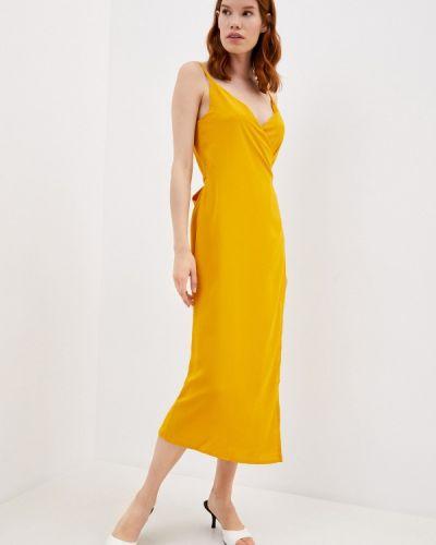 Желтое платье с запахом Imocean
