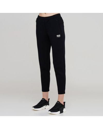 Черные трикотажные зауженные спортивные брюки Anta