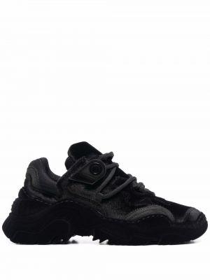 Czarne sneakersy skorzane N°21