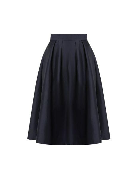 Satynowa niebieska spódnica mini rozkloszowana Apart Glamour
