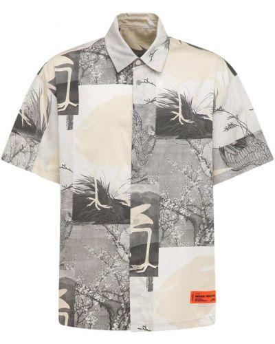 Koszula bawełniana z printem Heron Preston