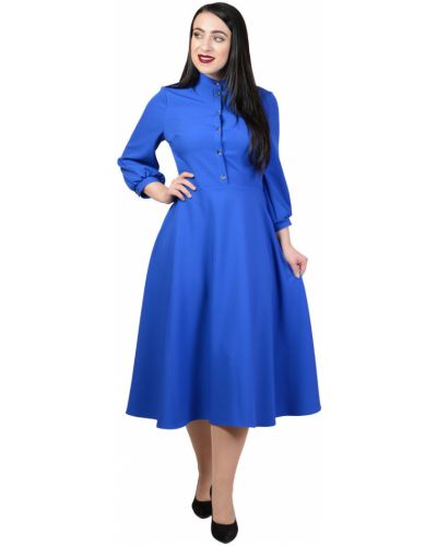 Платье с карманами - синее Avigal (avrora)