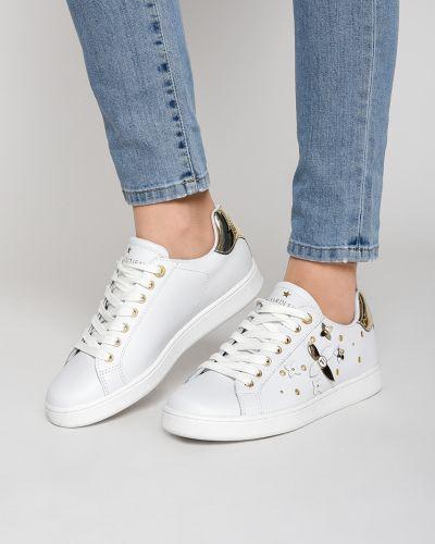 Кеды белые из искусственной кожи Trussardi Jeans
