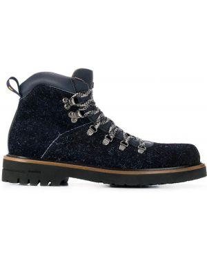 Кожаные ботинки - синие Brimarts