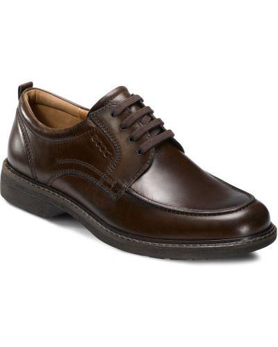 Кожаные туфли легкие на шнурках Ecco