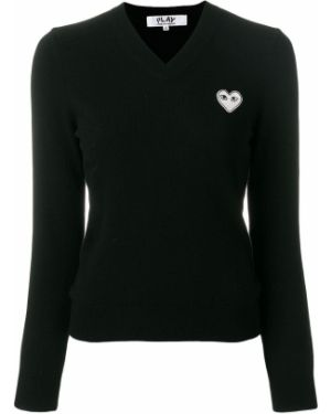 Sweter wełniany - biały Comme Des Garcons Play