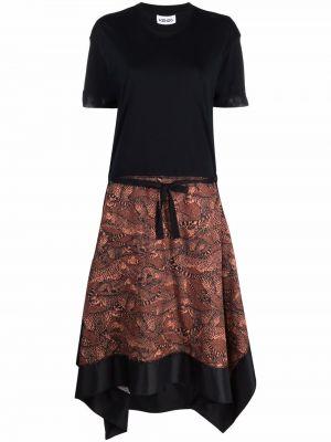 Платье мини короткое - черное Kenzo