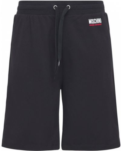 Czarne szorty bawełniane Moschino Underwear