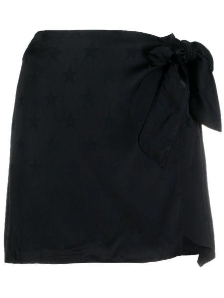 Асимметричная с завышенной талией черная юбка Laneus