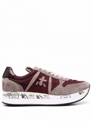 Кожаные кроссовки - красные Premiata