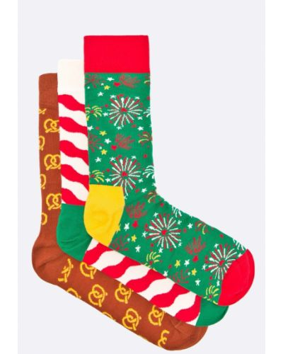 Носки набор хлопковые Happy Socks