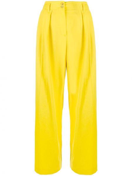Шерстяные брюки с карманами свободного кроя Paul Smith