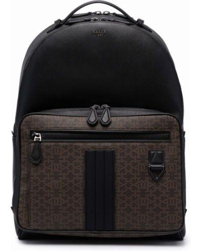 Рюкзак с принтом - черный Bally
