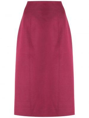 Хлопковая юбка миди - розовая À La Garçonne