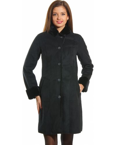 Черное пальто осеннее Armani Jeans
