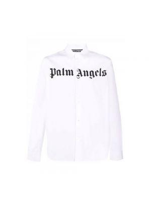 Biała koszula z długimi rękawami - biała Palm Angels