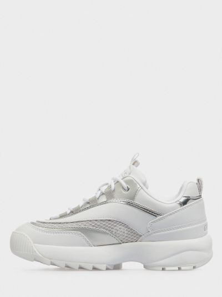 Мягкие белые текстильные кроссовки со вставками Guess