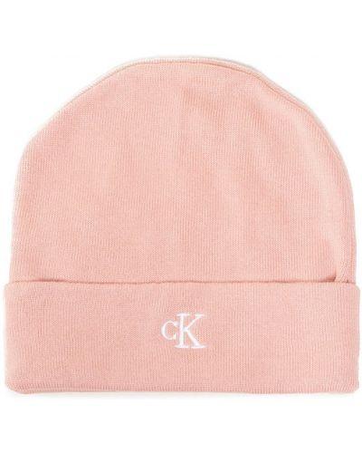 Różowa czapka beanie Calvin Klein Jeans