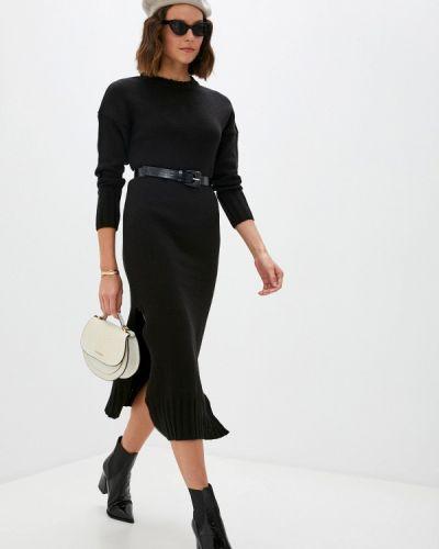 Трикотажное вязаное черное платье Blugirl Folies