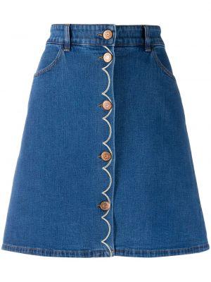 Джинсовая юбка мини - синяя See By Chloé