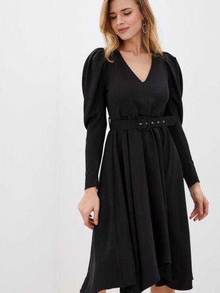 Платье прямое черное Imperial