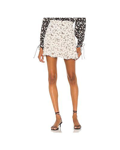 Текстильная юбка мини с оборками на молнии с подкладкой For Love & Lemons