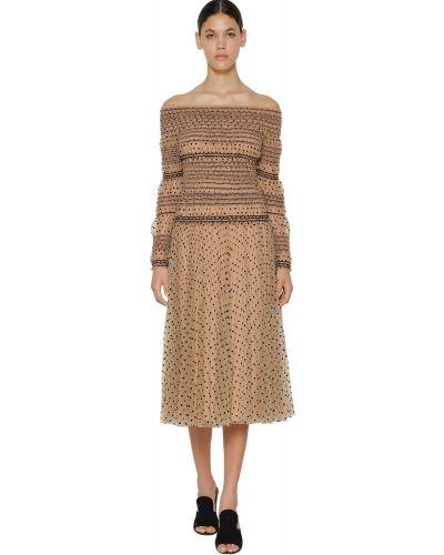 Платье мини с пайетками с вышивкой Self-portrait