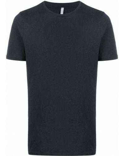 С рукавами хлопковая синяя футболка с круглым вырезом Cenere Gb