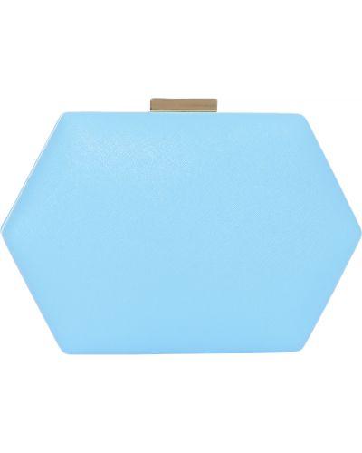 Голубой кожаный клатч Olga Berg