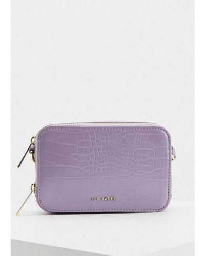 Кожаная сумка через плечо - фиолетовая Ted Baker London